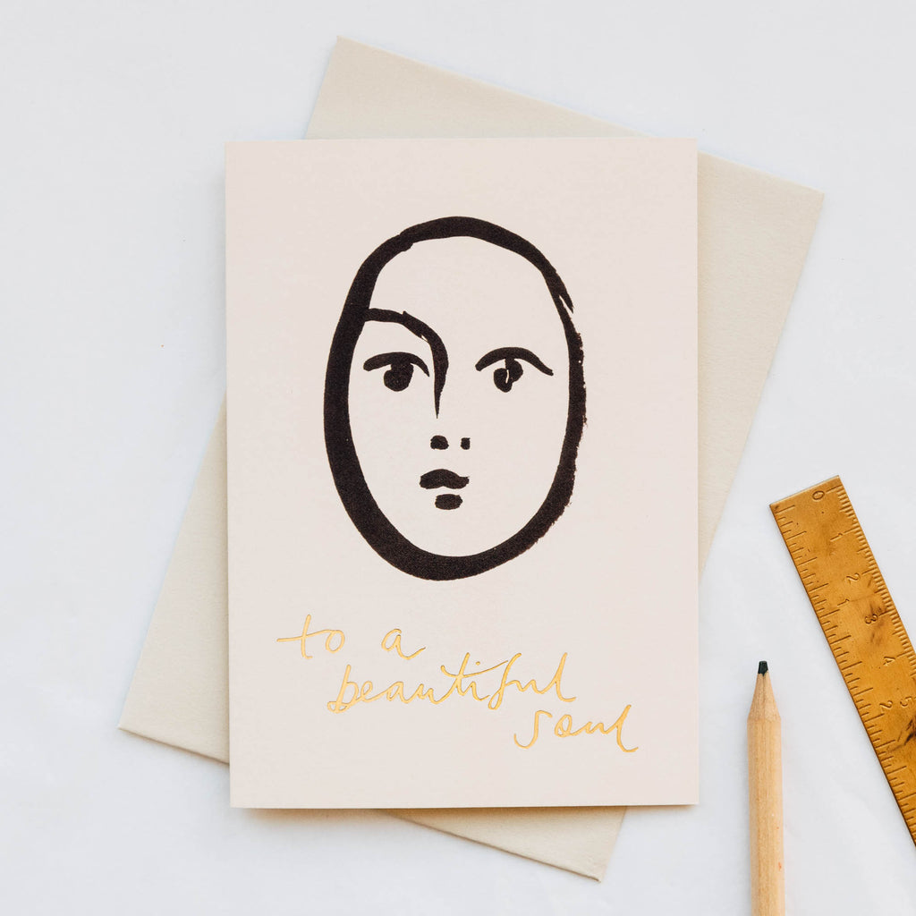 Beautiful Soul Face Illustration Card