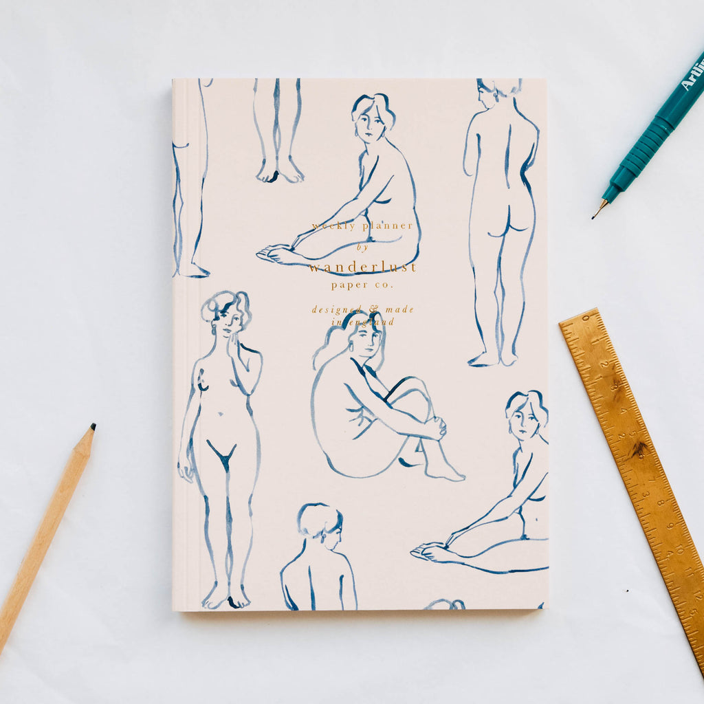 Blue Nudes Weekly Planner