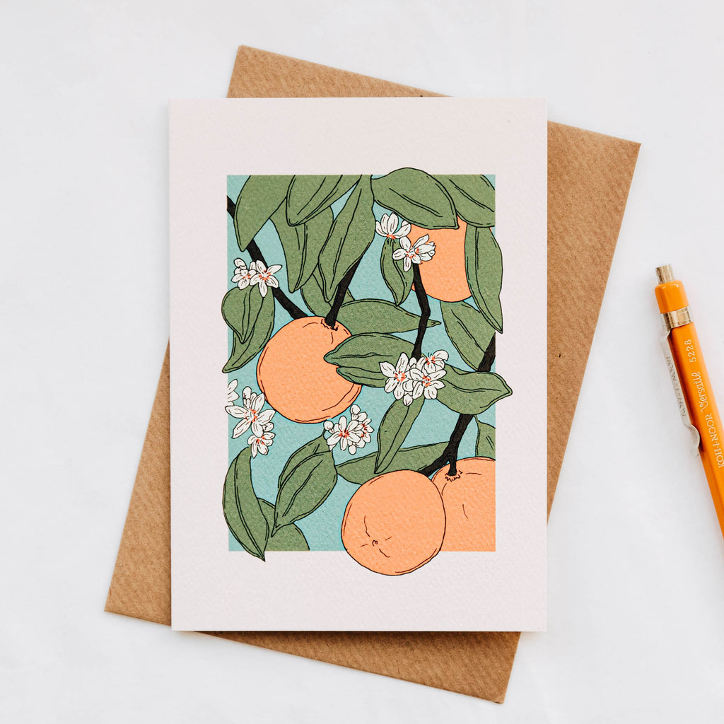 Blank Oranges Greeting Card
