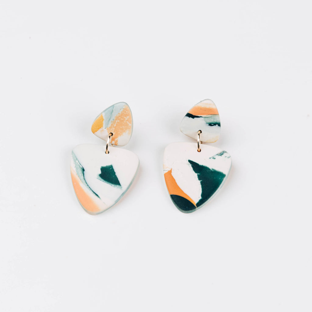 Kin Drop Earrings in Just Peachy Watercolour