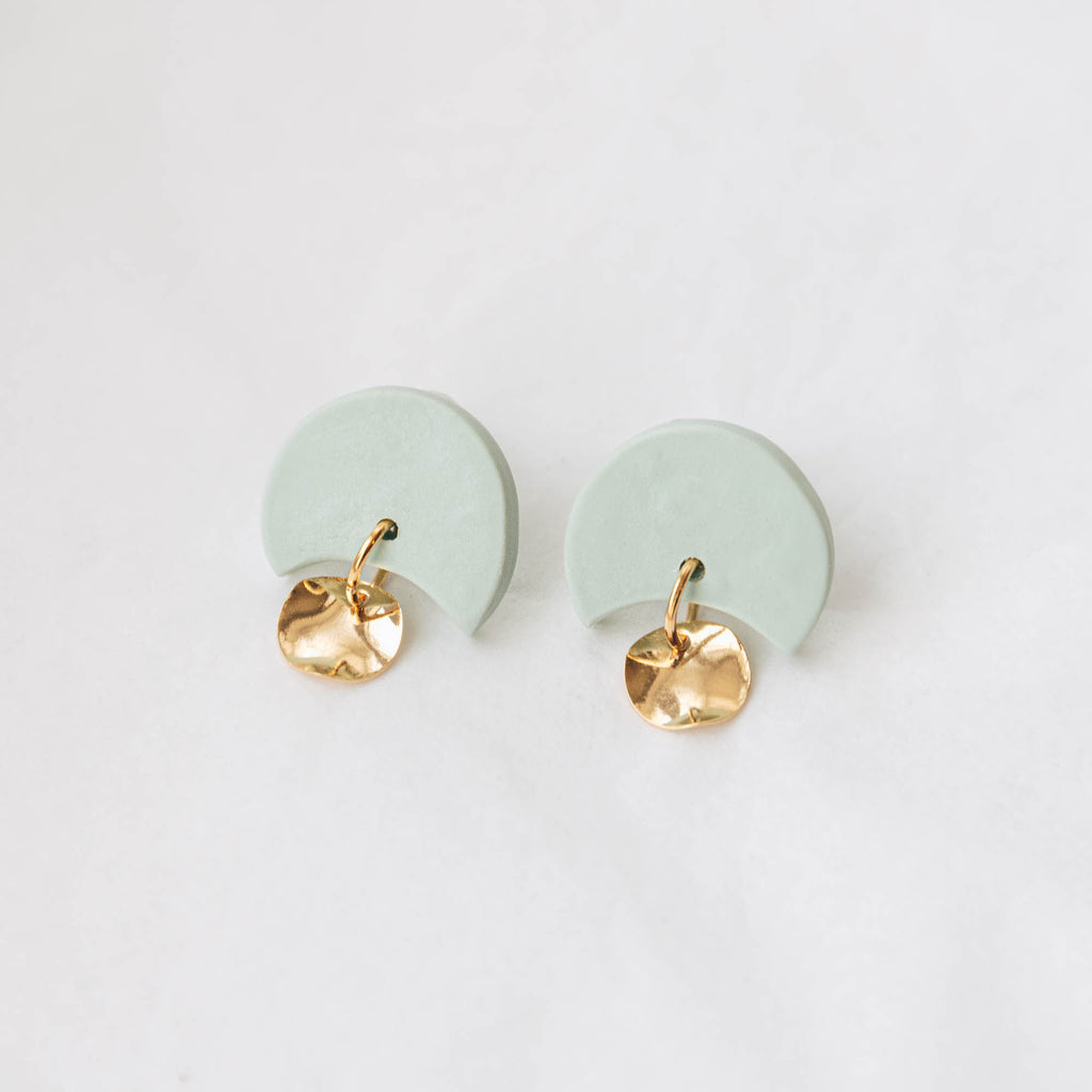 Mini Annabelle Earrings in Dark Teal