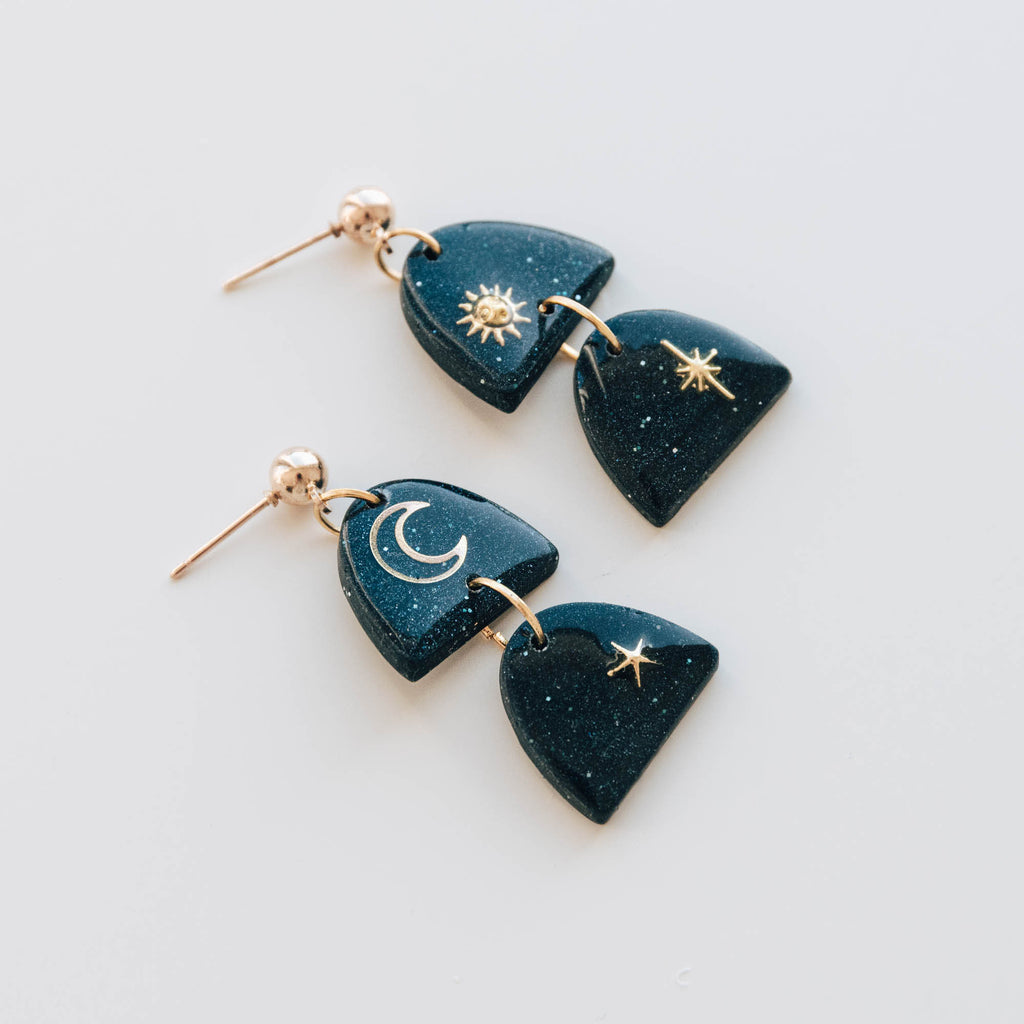 Subconscious Earrings in Midnight