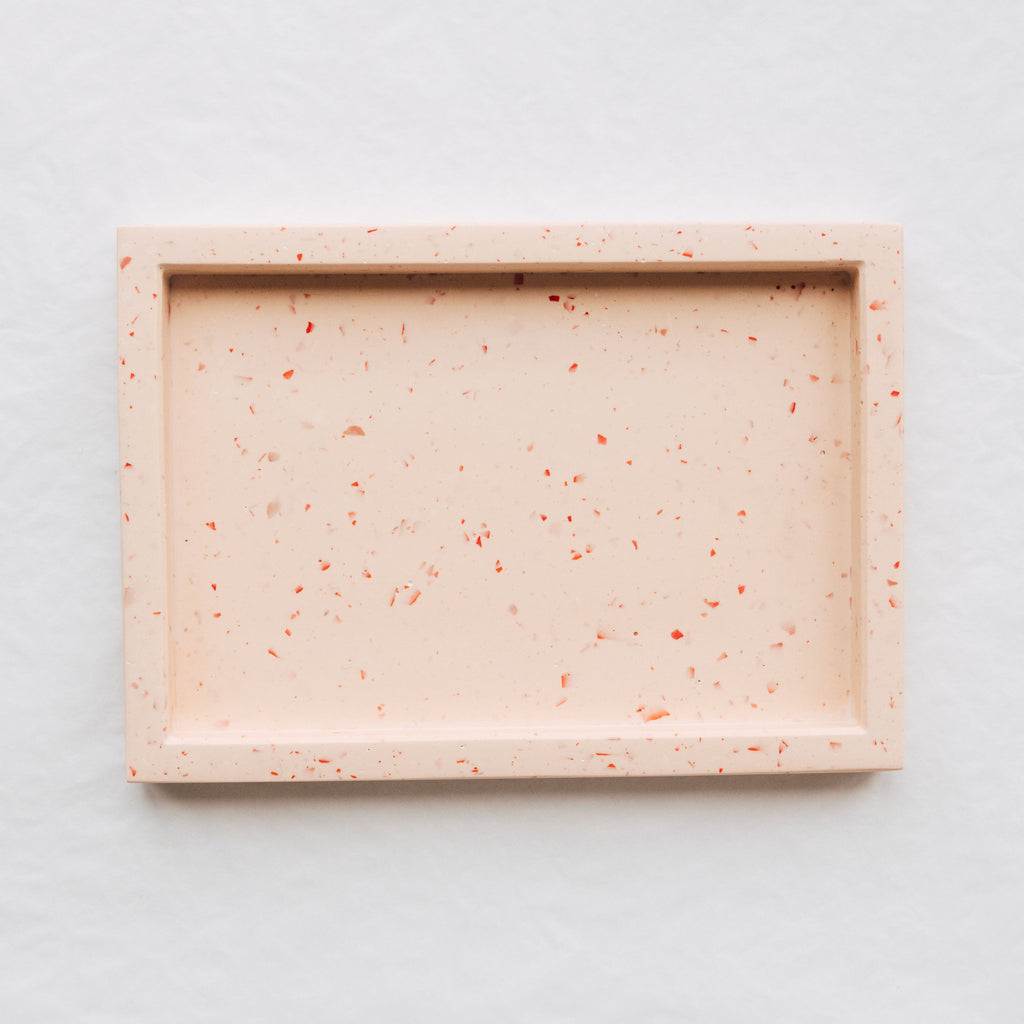 Rectangle Terrazzo Tray - Pink