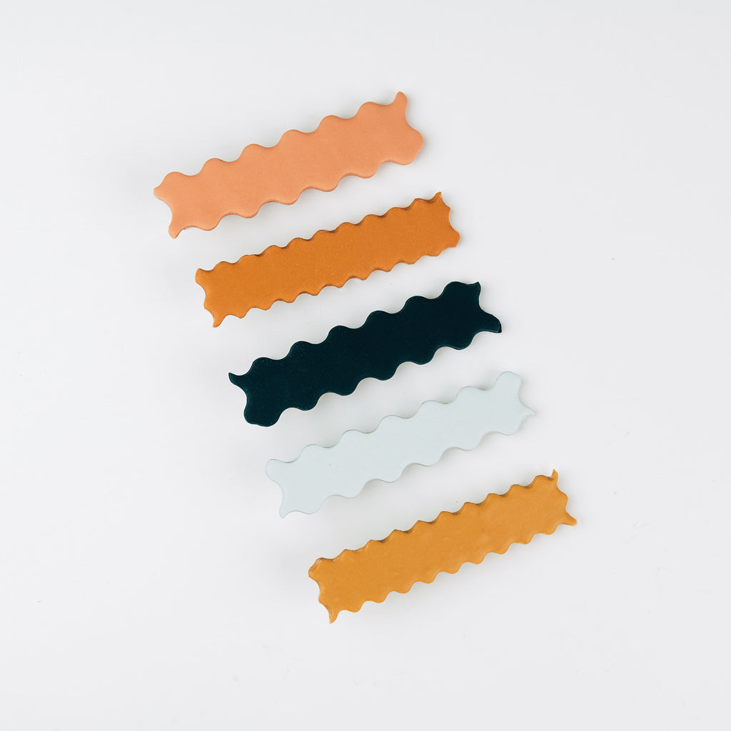 Wiggle Wave Hair Slides - Set of 2