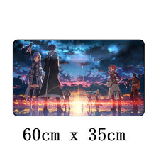 Tapis de Souris 60x35 cm  Japon Anime Gamer Sword Art onligne Shino Kirito Asuna