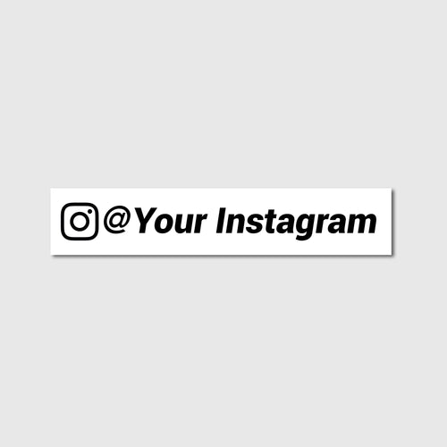 Custom Instagram Decal - Branded Vinyl