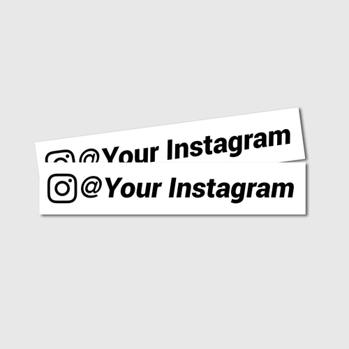 Custom Instagram Decals - Two Pack - Branded Vinyl