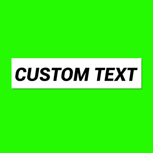 Custom Text Decal Packs - Branded Vinyl