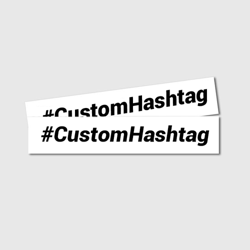 Custom Hashtag Decals - Two Pack - Branded Vinyl
