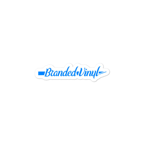 Branded Vinyl Sticker Blue - Branded Vinyl