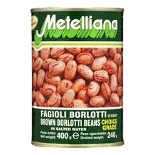 Brown Italian Borlotti Beans by Metelliana - 14 oz