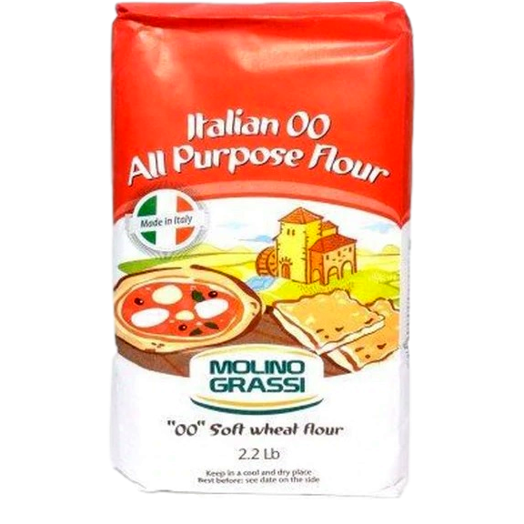 "Italian ""00"" All Purpose Flour (1 kg) by Molino Grassi - 2.2 lb"