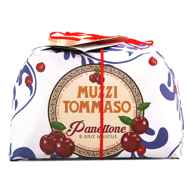 Panettone Oven Baked Cake w/ Candied Black Cherries Muzzi by Fabbri - 17.65 oz