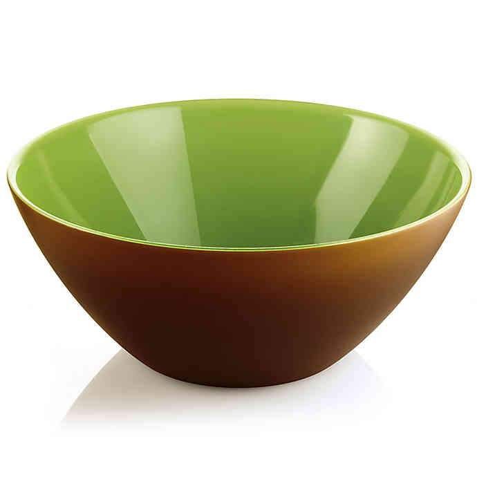"Centerpiece & Fruit Bowl ""Twist"" Transparent Kiwi Color by Guzzini"