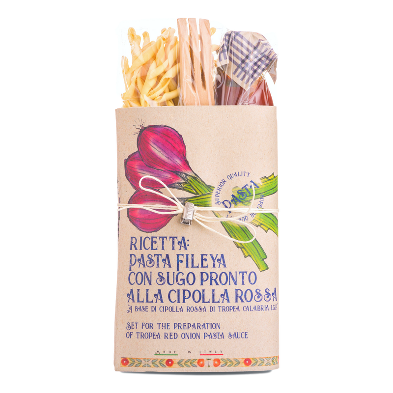 Pasta with Red Onion Tomato Sauce Gift Set Kit by Casarecci di Calabria