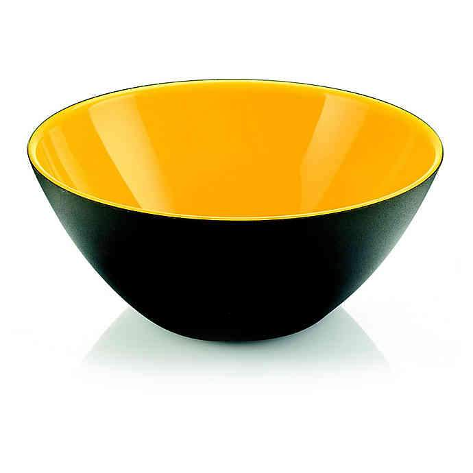 "Serving Bowl ""My Fusion"" Black/Yellow Color by Guzzini"
