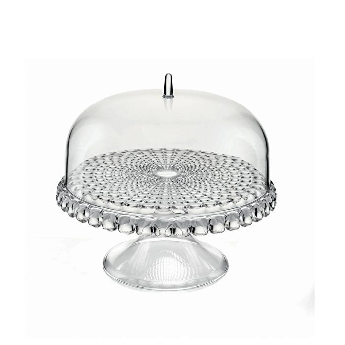 "Small Cake Stand with Dome ""Tiffany"" Collection (Ø11.8 inches) by Guzzini"
