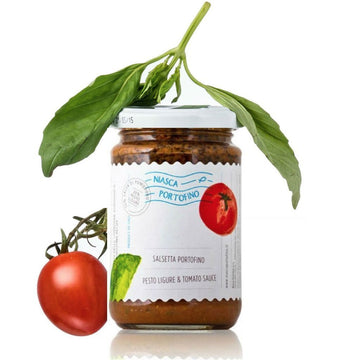 Ligurian Pesto & Tomato Sauce | Ready made Sauce by Niasca Portofino - 11.6 oz