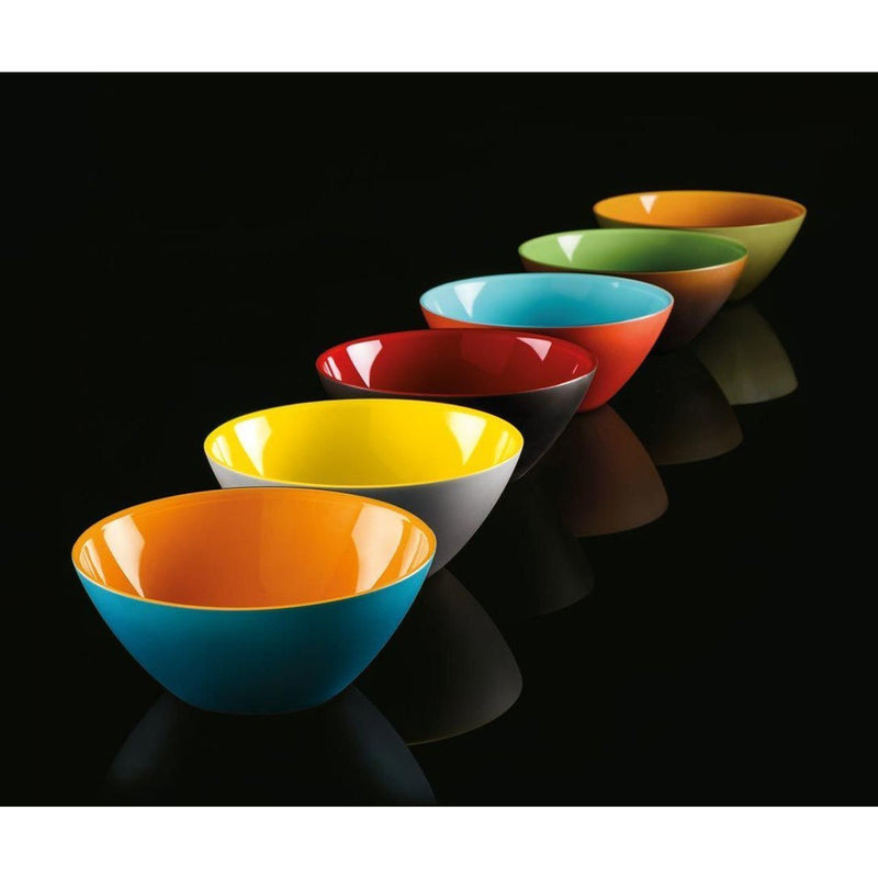 "Serving Bowl ""My Fusion"" Moka/Kiwi Color by Guzzini"
