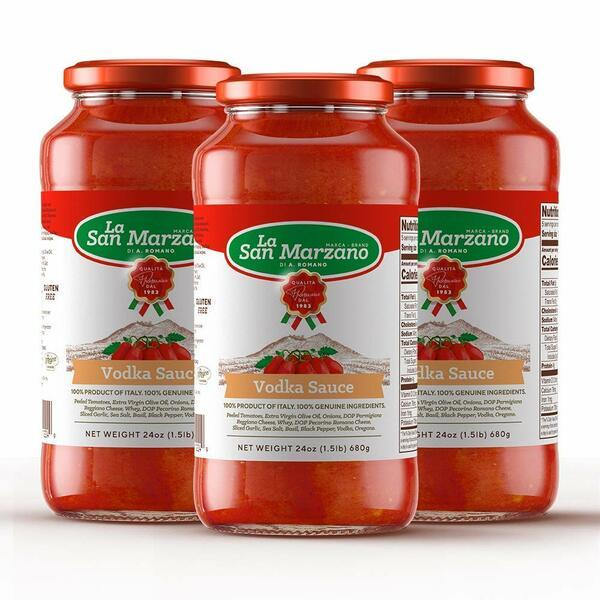 Vodka Tomato Sauce by La San Marzano - 3 jars x 24 oz each