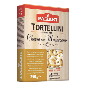 Tortellini filled with Cheese & Mushrooms by Pagani - 8.8 oz