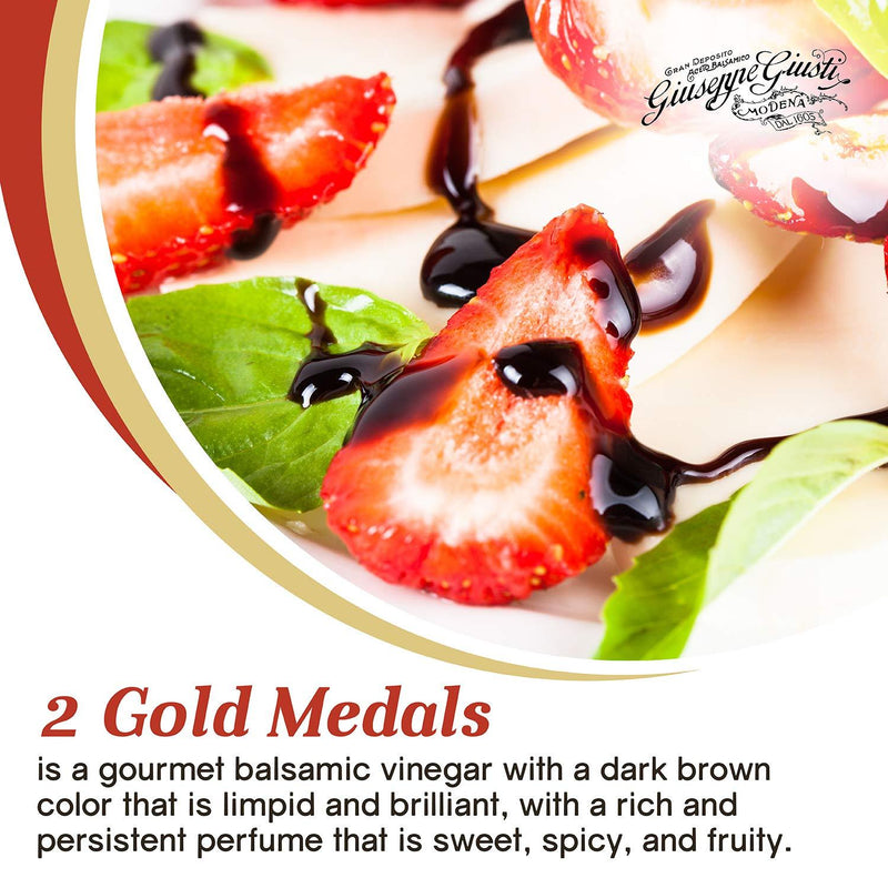"Balsamic Vinegar of Modena ""2 Gold Medals"" (Italy) by Giusti - 8.45 fl oz"