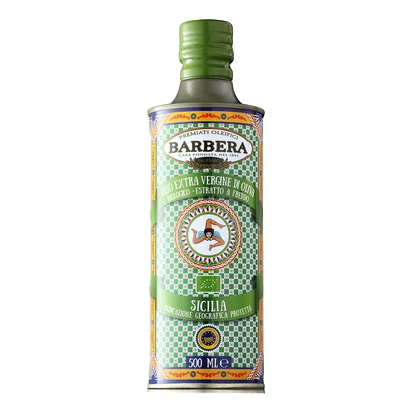 "Organic Extra Virgin Olive Oil PGI ""Sicilia"" processed with Cold Extraction by Barbera  - 16.9 fl oz"
