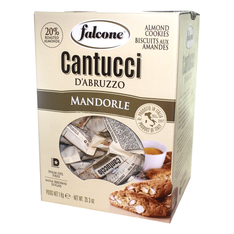 Cantucci Almonds Cookies Individually Wrapped by Falcone - 35.3 oz