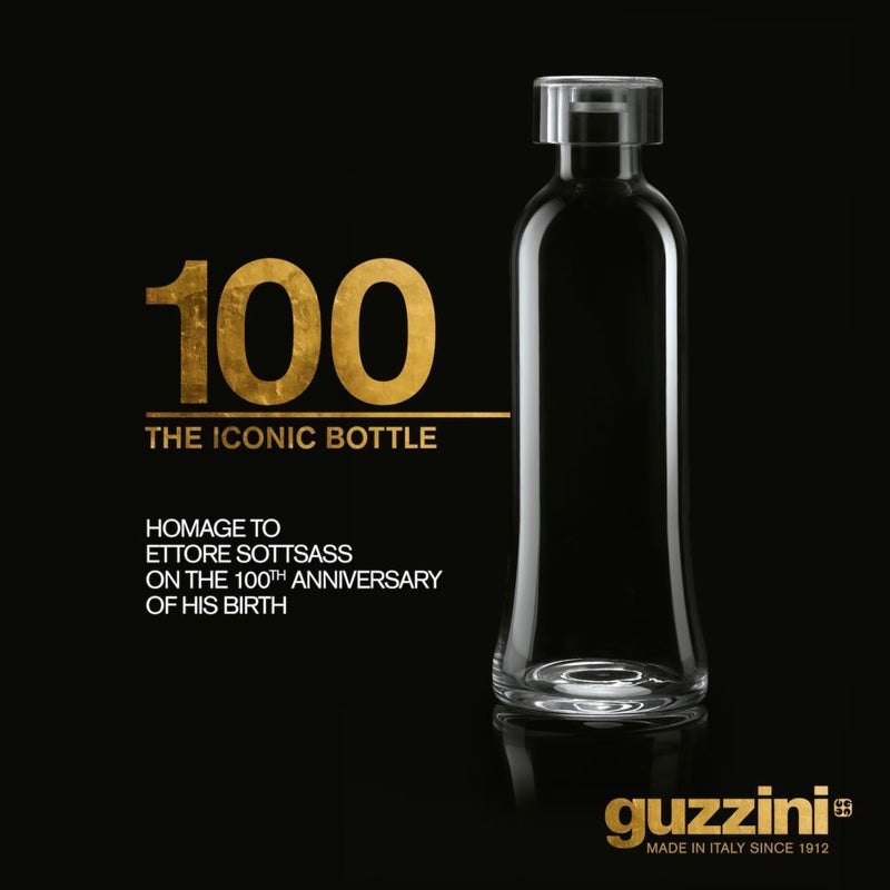 "The Icon Glass Bottle ""100"" Special Edition (1 lt) by Guzzini"