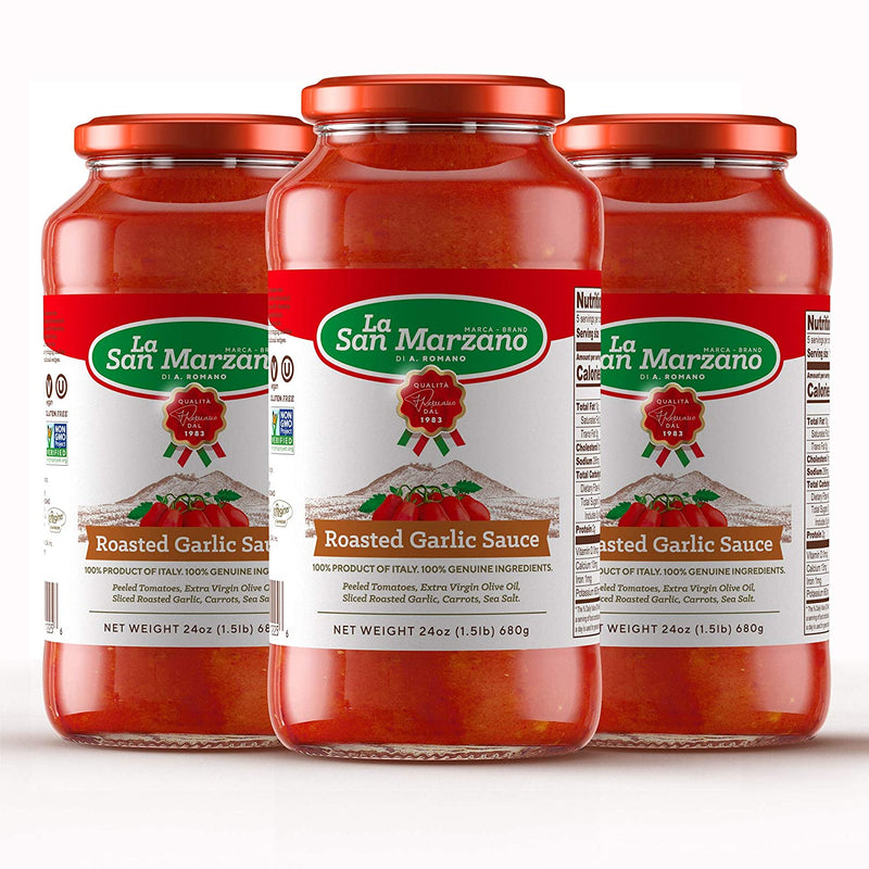 Four Cheese Tomato Sauce by La San Marzano - 3 jars x 24 oz each