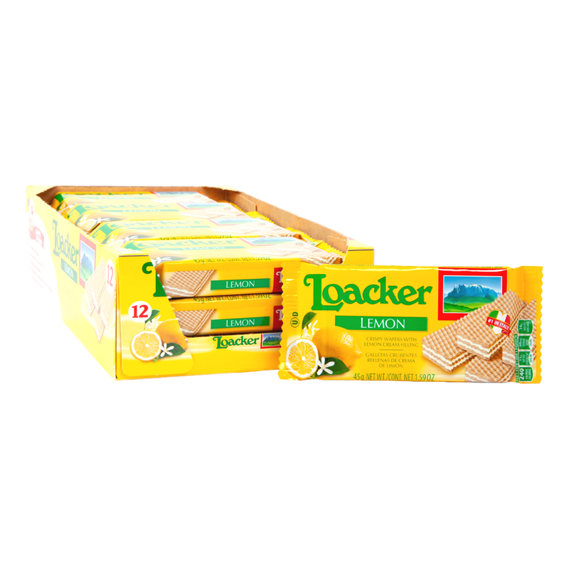 Crispy Wafers w/ Lemon Cream Filling by Loacker (12 pieces) - 19.05 oz