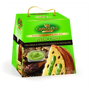 Panettone Oven Baked Cake filled with Pistacchio by GranDucale - 26.46 oz