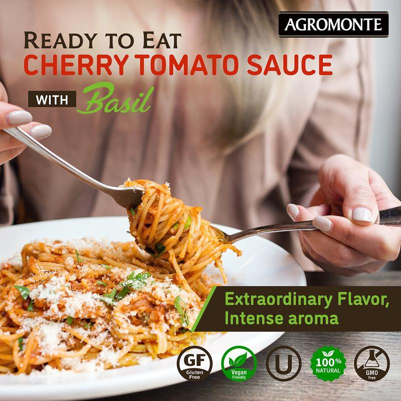 Ready Cherry Tomato Sauce with Basil by Agromonte - 11.64 oz
