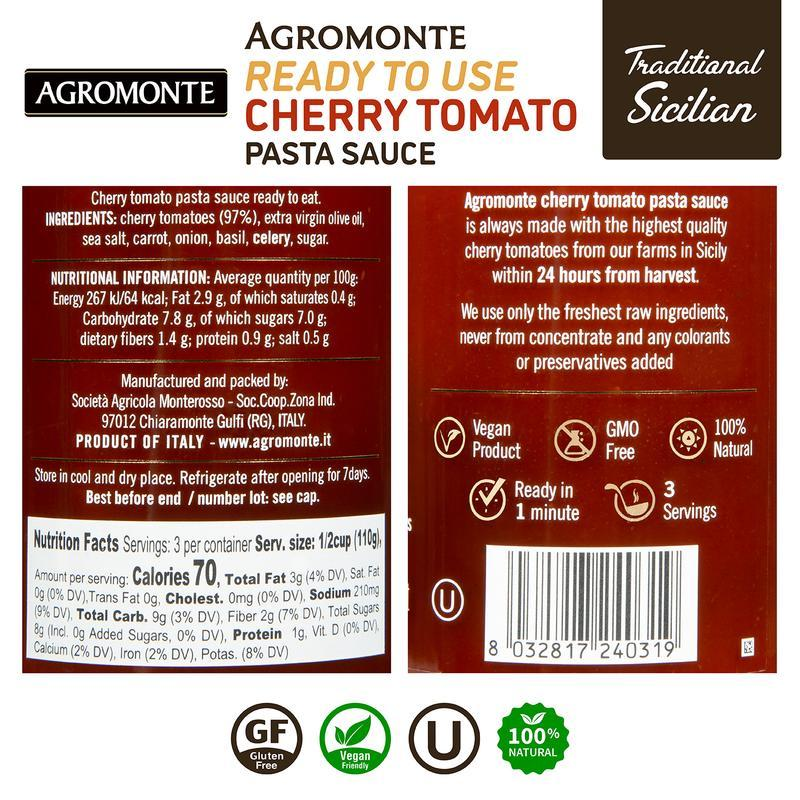 Ready Cherry Tomato Sauce by Agromonte - 11.64 oz