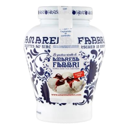 Amarena Wild Cherries in Syrup (600 grams) by Fabbri - 1.32 lb