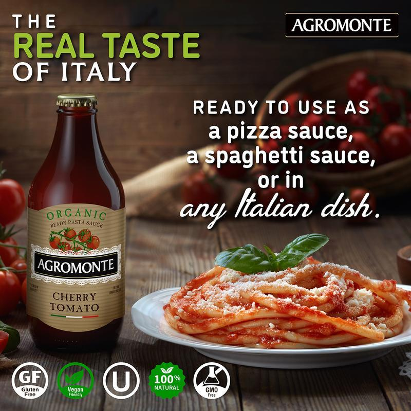 Ready Organic Cherry Tomato Sauce by Agromonte - 11.64 oz