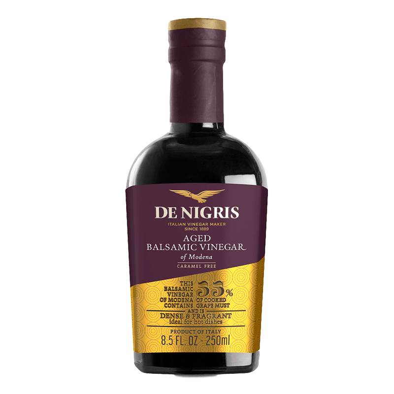 Balsamic Vinegar of Modena (250 ml) | Aged 3 Years 55% Grape Must by De Nigris - 8.5 fl oz