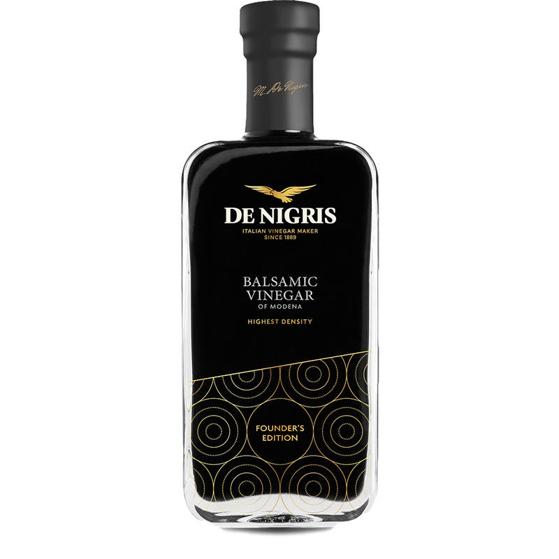 Balsamic Vinegar of Modena (250 ml) | Founder's Edition 70% GRAPE MUST by De Nigris - 8.5 fl oz