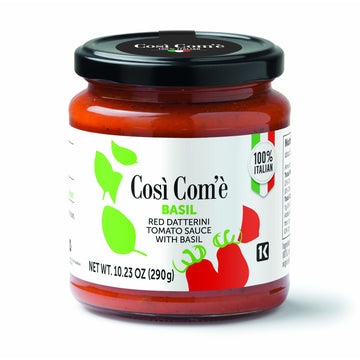 Red Datterino Tomato Sauce with Basil (290 grams) by Così Com'è - 10.23 oz