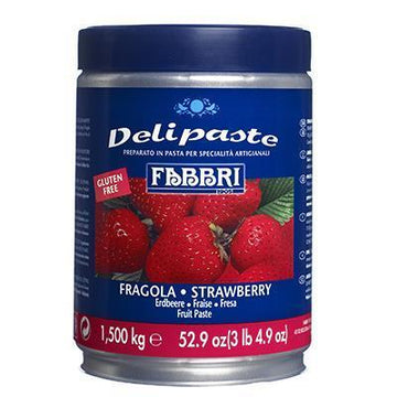 Creamy Strawberry Fruit Paste | Preparation for Ice Cream & Pastries by Fabbri - 3.3 lb