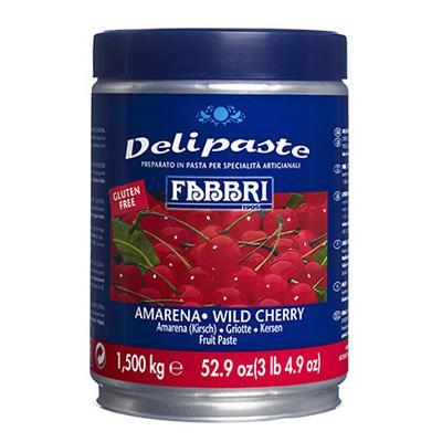 Creamy Wild Cherry Amarena Fruit Paste | Preparation for Ice Cream & Pastries by Fabbri - 3.3 lb