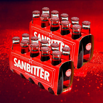 Sanbitter non-alcoholic red bitter aperitif by SanPellegrino (Double Pack) - 20 bottles x 100 ml