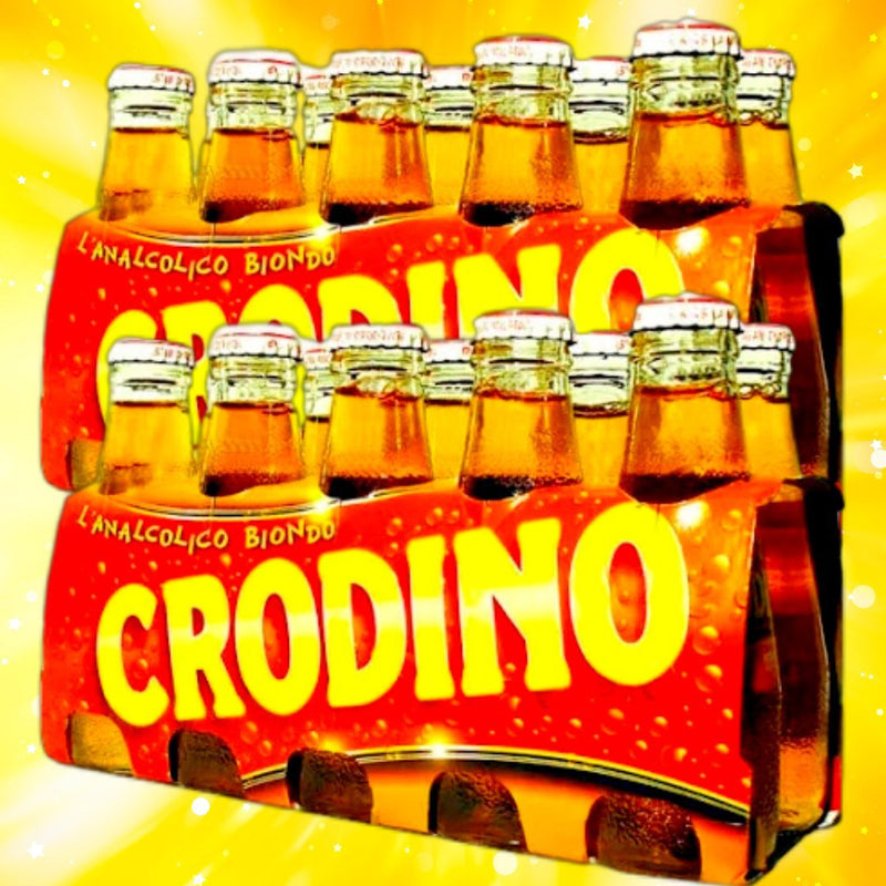 Crodino non-alcoholic bitter aperitif, produced since 1964 by Crodino (Double Pack) - 20 x 100 ml