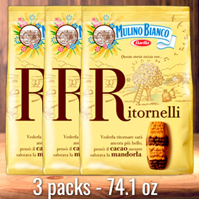 Ritornelli Cookies Bundle with Almonds & Cocoa (3 PACKS) by Mulino Bianco