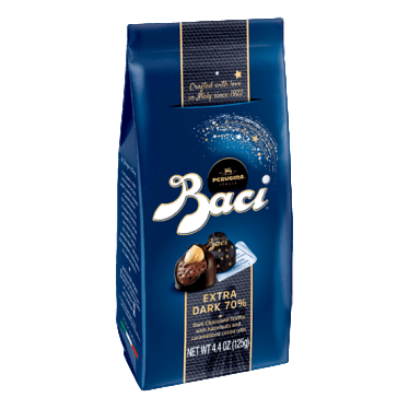 Baci Extra Dark Chocolate (70%) Truffle with Hazelnuts by Perugina - 4.4 oz