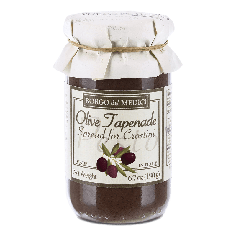 Olive Tapenade Spread for Crostini by Borgo de' Medici - 6.7 oz