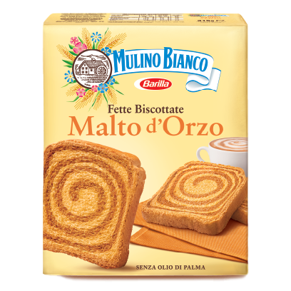Malted Barely Rusks Fette Biscottate Italian Toast by Mulino Bianco - 11 oz