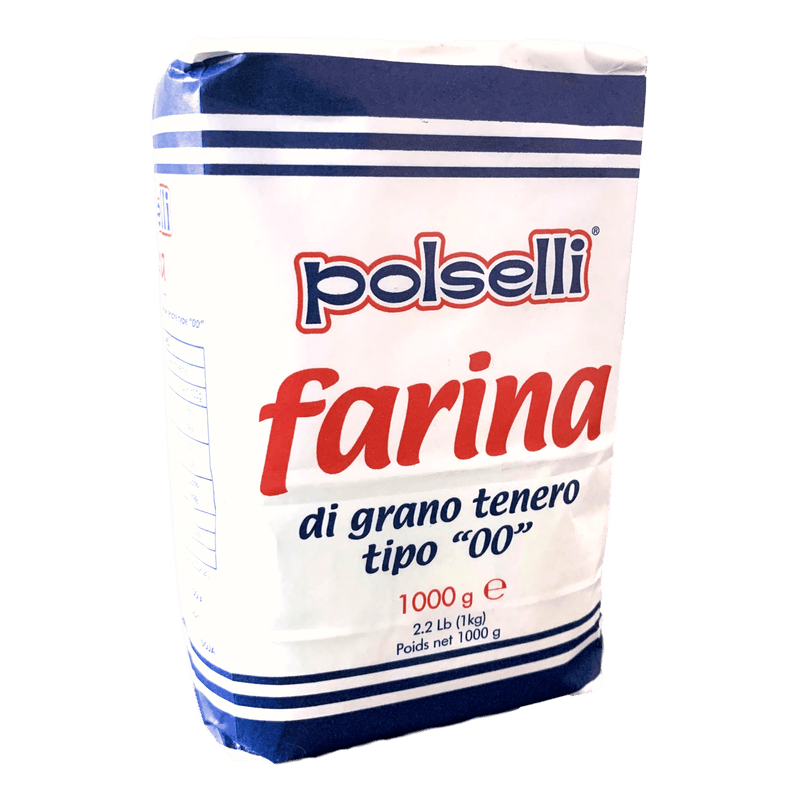 "Superfine Soft Wheat Flour type ""00"" ideal for Pizza (1 kg) by Polselli - 2.2 lb"