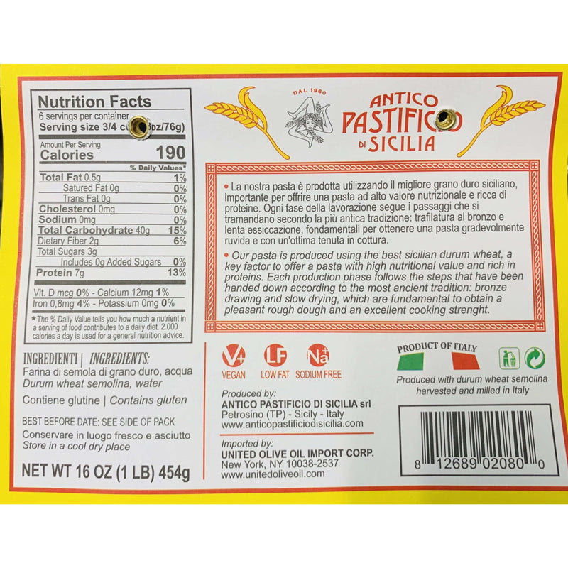 "Artisanal Pasta ""Busiate"" by Antico Pastificio di Sicilia - 1 lb"