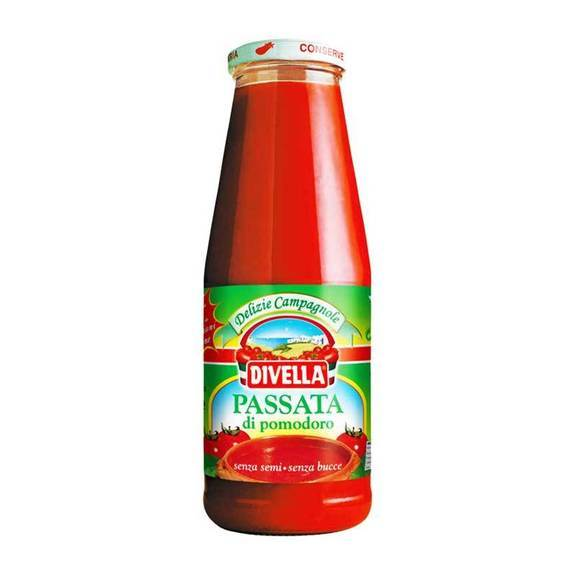 Tomato Puree without Seeds and Skins (680 grams) by Divella - 24 oz